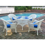 5 Pc Veranda 48 Dining Set with Cushions - WHITE