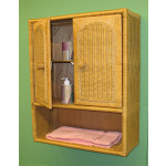 Wicker Wall Cabinet - CARAMEL