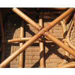 Diamond Rattan Framed Natural Wicker Chair - CHAIR BOTTOM