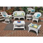 (4) Piece Diamond Set with 2 Chairs & Cushions - WHITE
