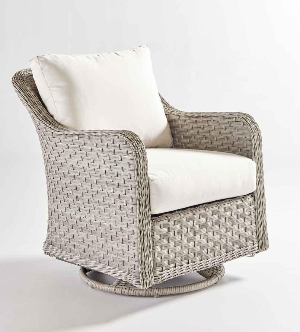 Countryside Resin Wicker Swivel Glider Chair