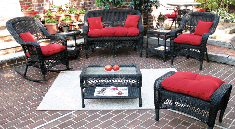 Black Aluminum Framed Resin Bel Aire Midsize Seating  Collection