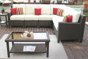 Coffee Brown Caribbean Wicker Patio Furniture