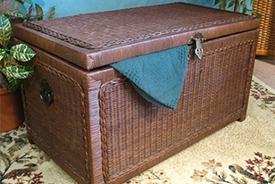 Wicker Trunk for Storage